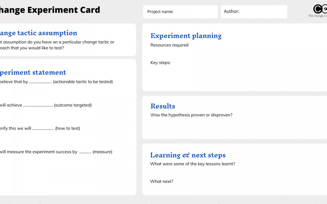 Five agile change toolkits